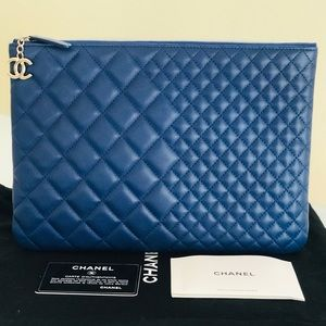 Authentic Chanel O Case Clutch Pouch